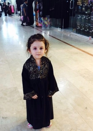 My niece in her little Abaya